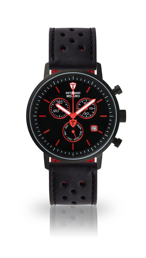 Detomaso Chronograph »MILANO BLACK BLACK RED«