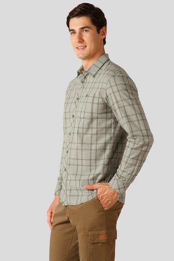 Finn Flare Langarmhemd mit modischem Karo-Muster