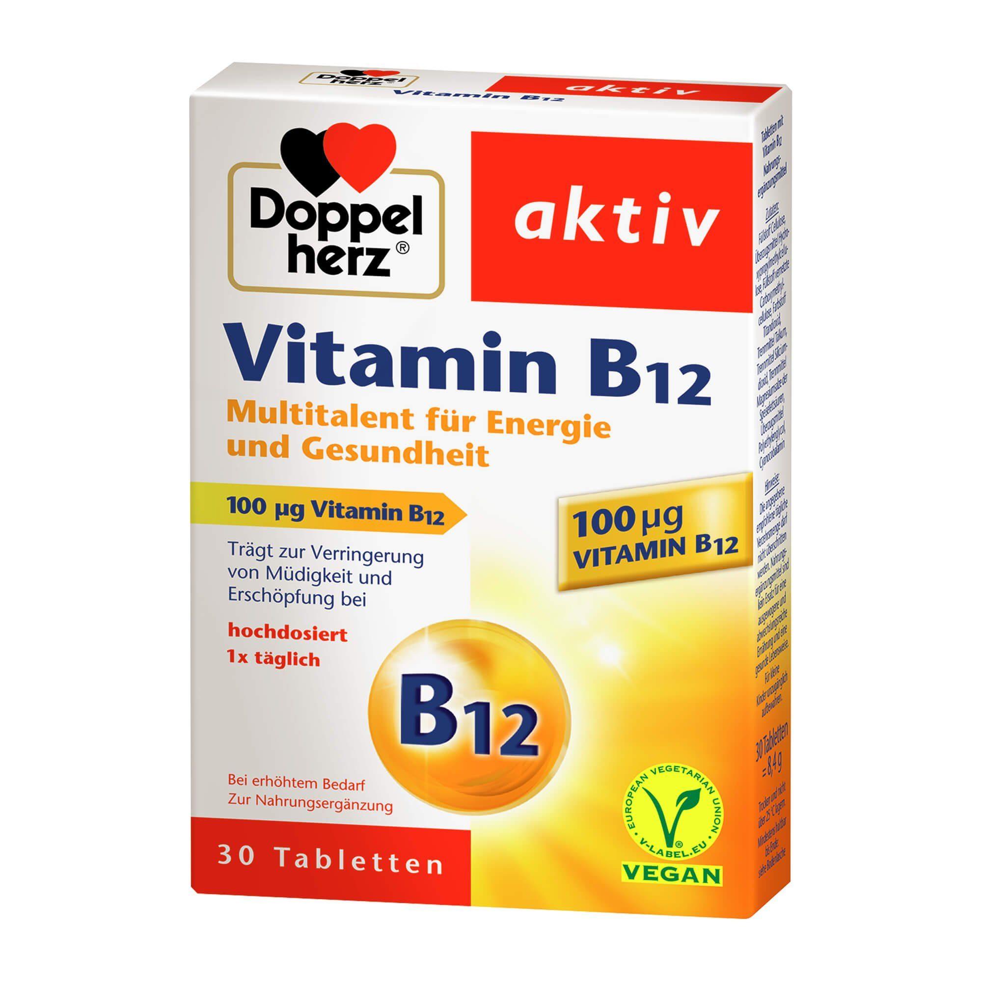 Doppelherz aktiv Vitamin B12 Tabletten, 30 St