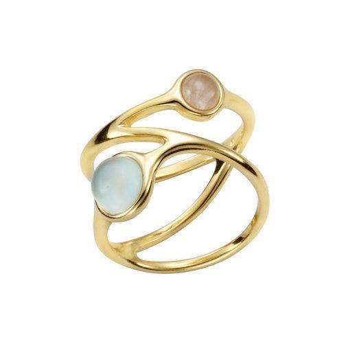 Vivance Ring »925/- Silber vergoldet echte Steine«