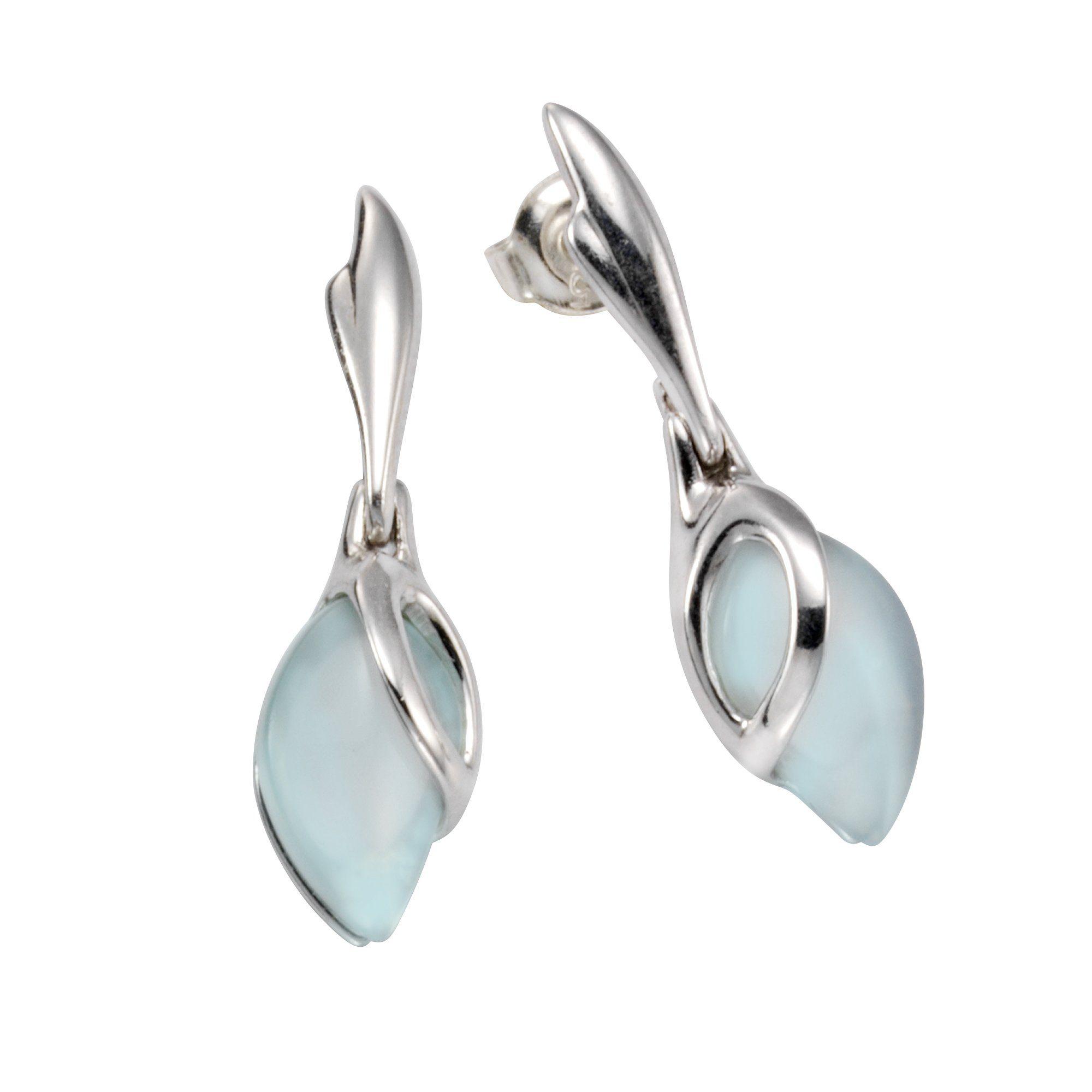 Firetti Ohrstecker »925/- Sterling Silber Aqua-Achat«