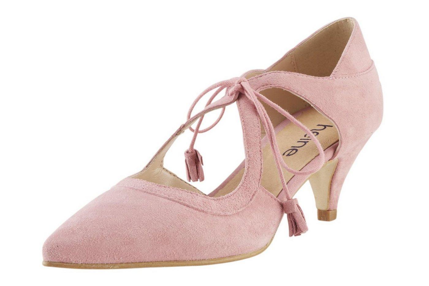 Heine Schnürpumps mit individueller Schnürung   Schuhe > Pumps > Schnürpumps   Rosa   heine