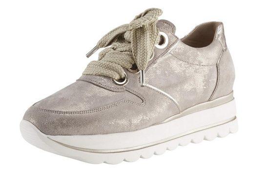 GABOR Sneaker mit extrabreiten Schürsenkeln