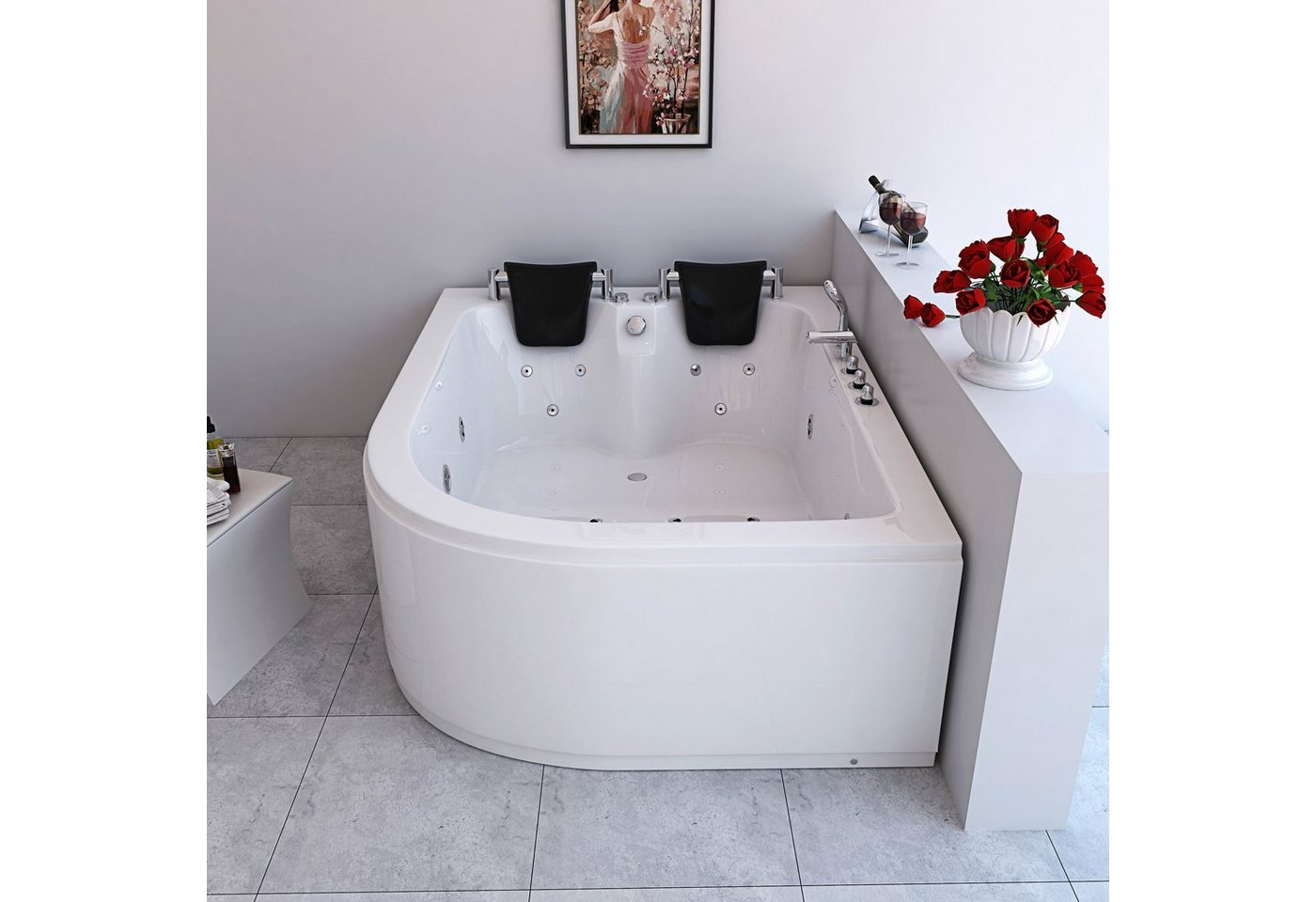 Whirlpool »Ancona XL rechts«, B/T/H in cm: 180/120/65 | Bad > Badewannen & Whirlpools > Whirlpools | HOME DELUXE