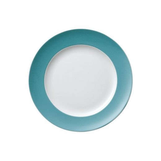 Thomas Porzellan Frühstücksteller »Sunny Day Turquoise Frühstücksteller 22 cm«, (1 Stück)