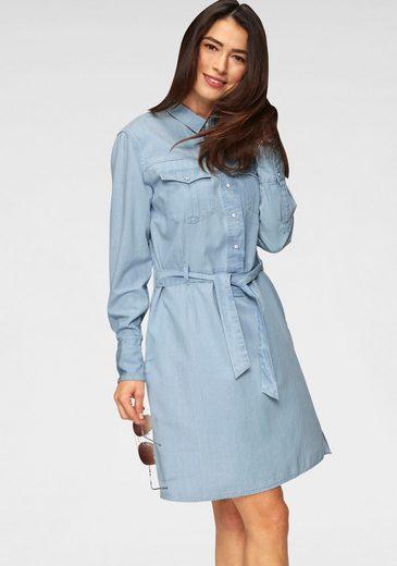 Lee® Jeanskleid im lässigen Hemdblusen-Style