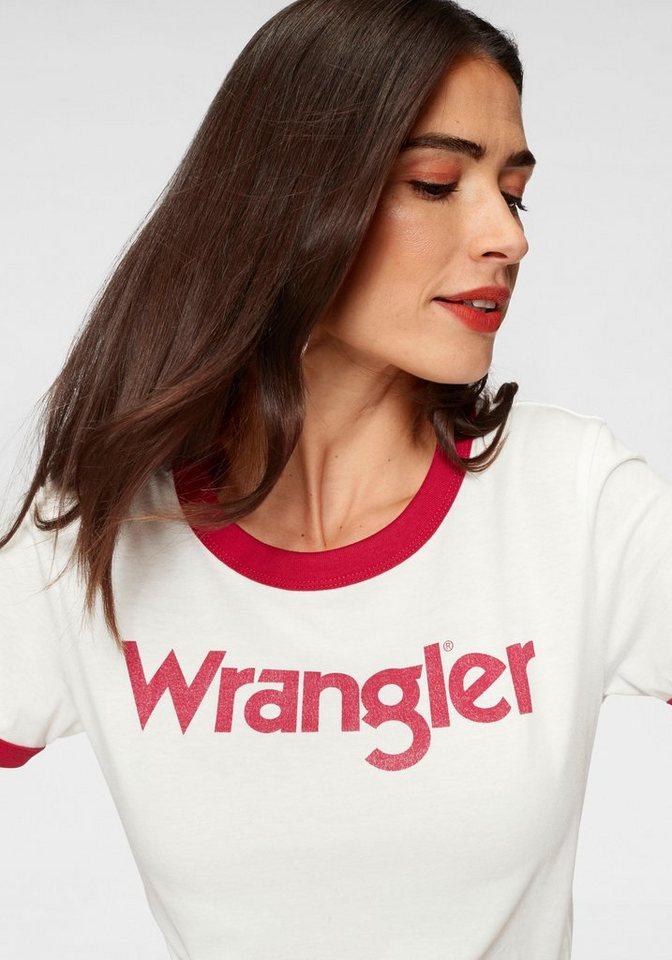 Wrangler T-Shirt im Retro-Style mit Logoprint