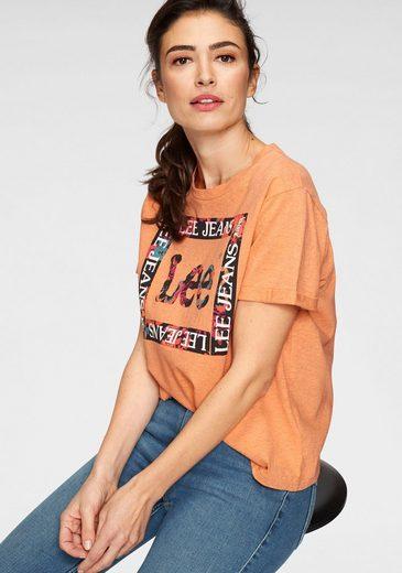 Lee® T-Shirt mit schönem Logo-Print