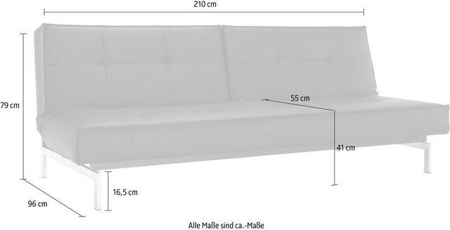 Sofas - INNOVATION™ Schlafsofa »Splitback«, mit chromglänzenden Beinen, in skandinavischen Design  - Onlineshop OTTO