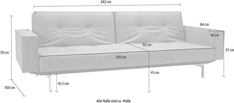 INNOVATION™ Sofa »Splitback«, mit Armlehne und chromglänzenden Beinen, in skandinavischen Design