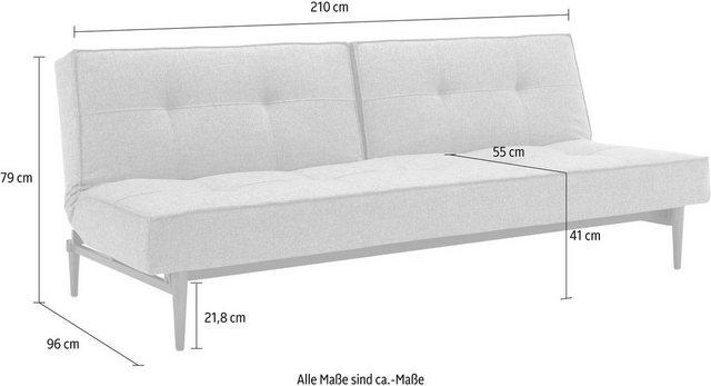 Sofas - INNOVATION™ Schlafsofa »Splitback«, mit dunklen Styletto Beinen, in skandinavischen Design  - Onlineshop OTTO