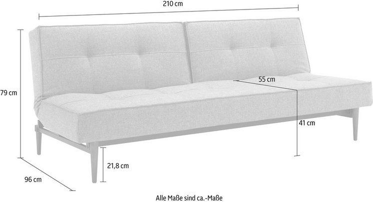 INNOVATION™ Schlafsofa »Splitback«, mit dunklen Styletto Beinen, in skandinavischen Design