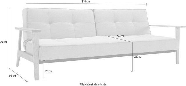 Sofas - INNOVATION™ Schlafsofa »Splitback«, mit Eik Beine, in skandinavischen Design  - Onlineshop OTTO