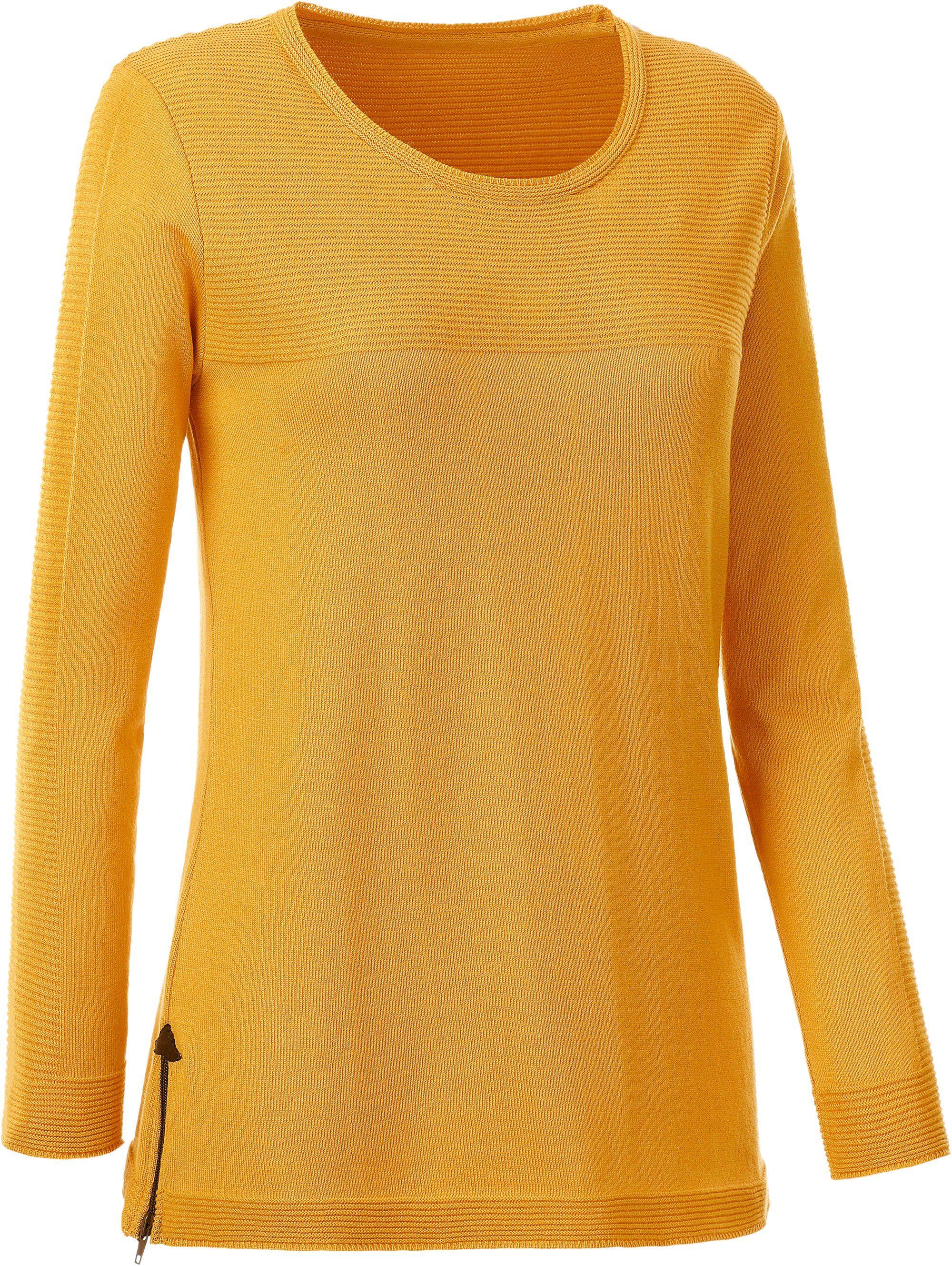 Casual Looks Pullover mit Seitenschlitze