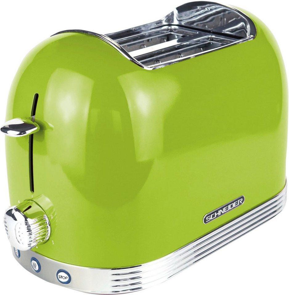 schneider toaster sl t2 2 lg 2 kurze schlitze 850 w. Black Bedroom Furniture Sets. Home Design Ideas