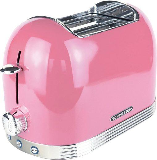 SCHNEIDER Toaster SL T2.2SP, 2 kurze Schlitze, 850 W