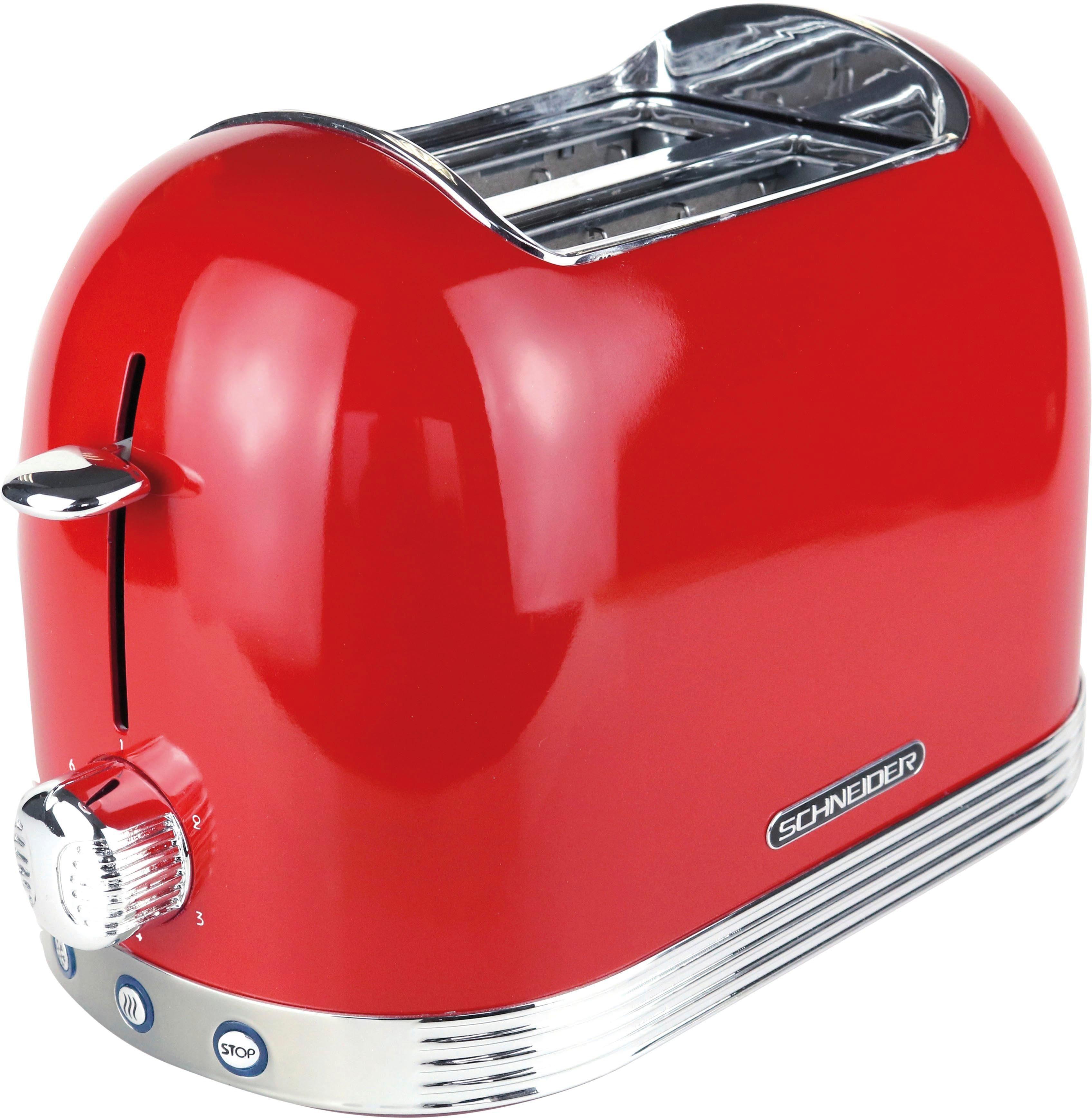 SCHNEIDER Toaster SL T2.2 FR, 2 kurze Schlitze, 850 W