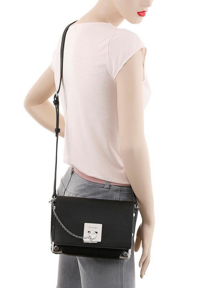 Damen Calvin Klein Umhängetasche mit silberfarbenen Details schwarz   08719115755515