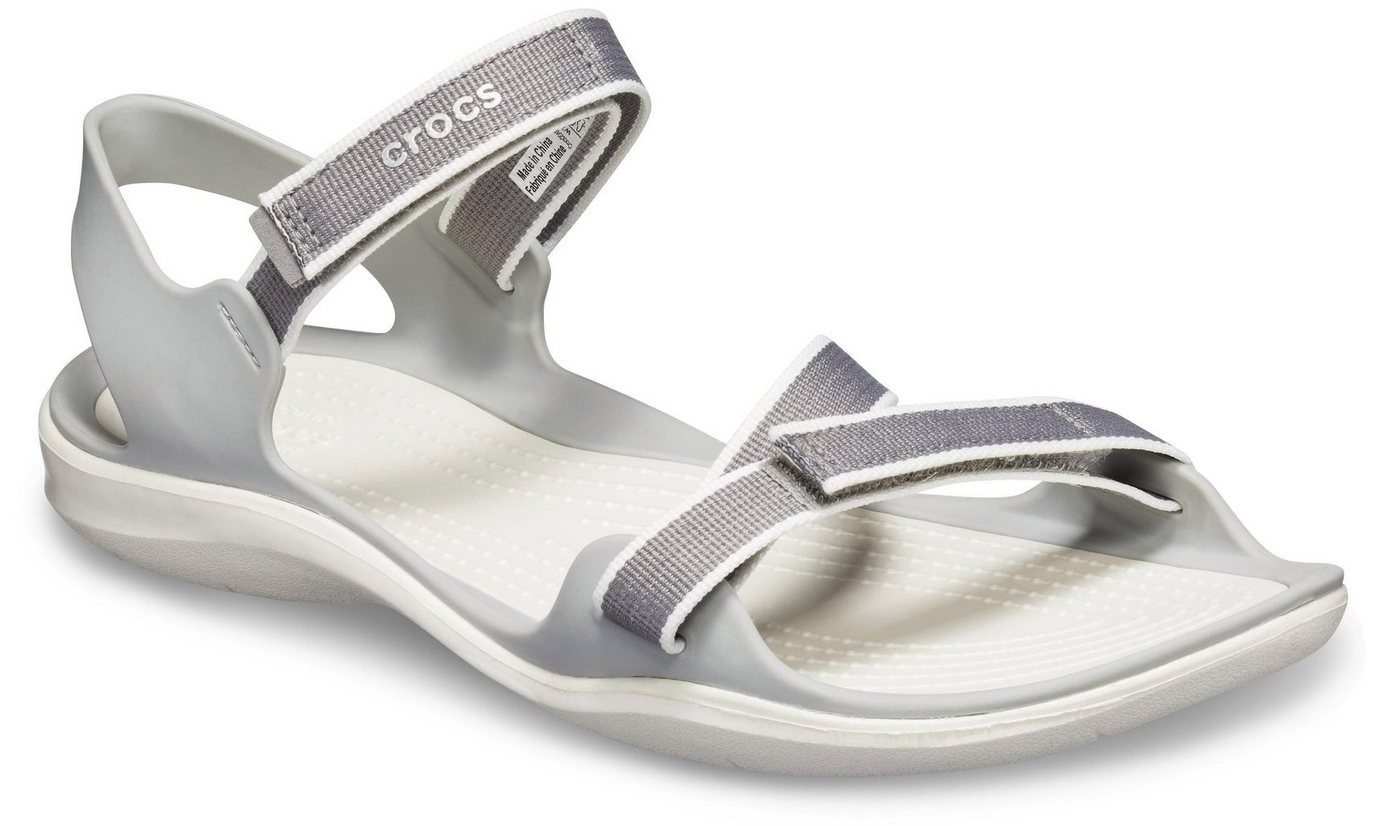 Damen Crocs »Swiftwater Webbing Sandal W« Sandale mit Riemchen blau, grau, rosa | 00191448269972