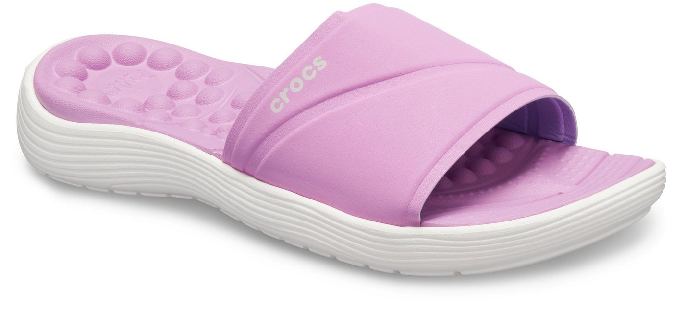 Crocs »Reviva Slide W« Pantolette mit durchblutungsfördernden Noppen | Schuhe > Clogs & Pantoletten > Pantoletten | Rosa | Crocs