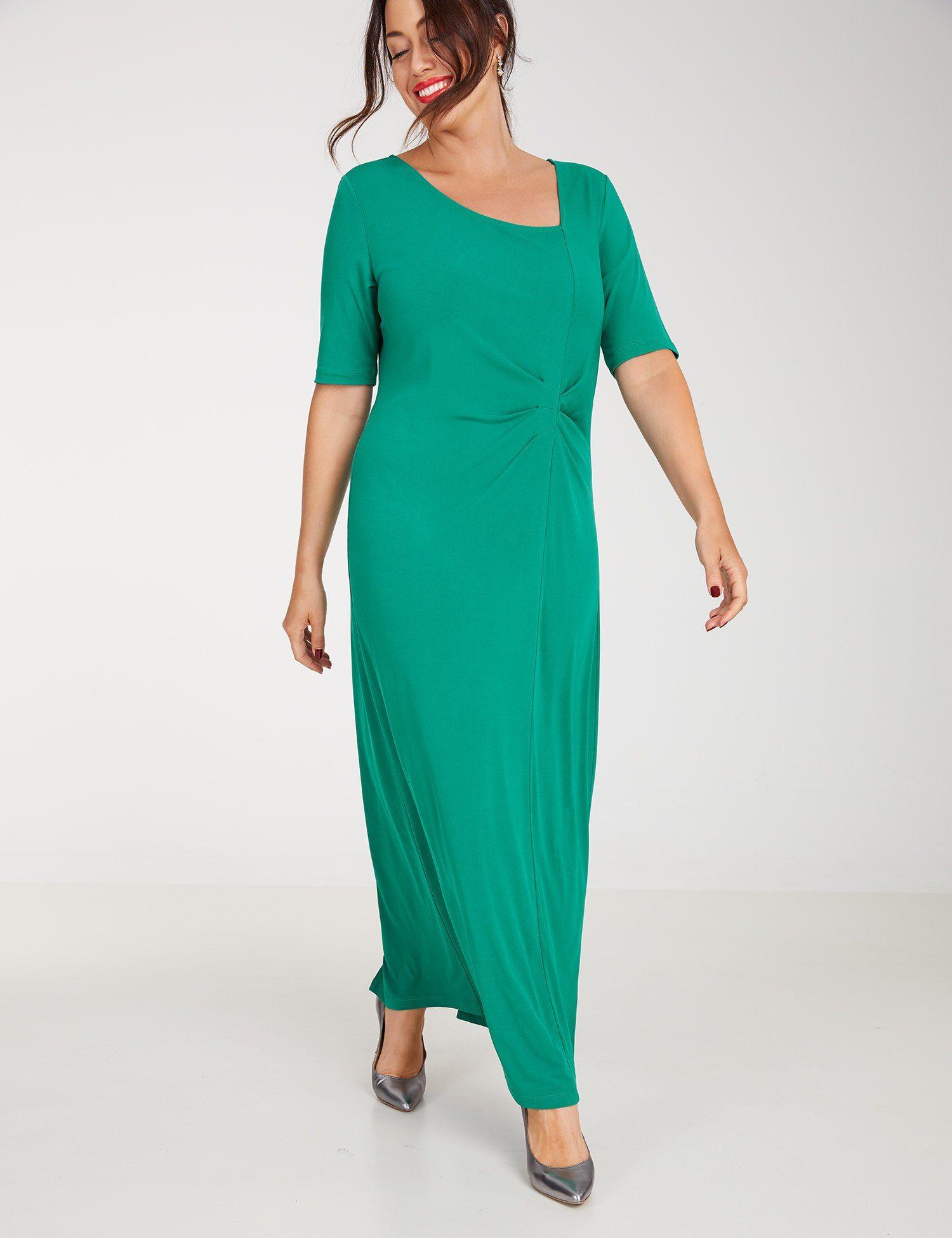 SAMOON Kleid Gewirke »Abendkleid mit Raffung«