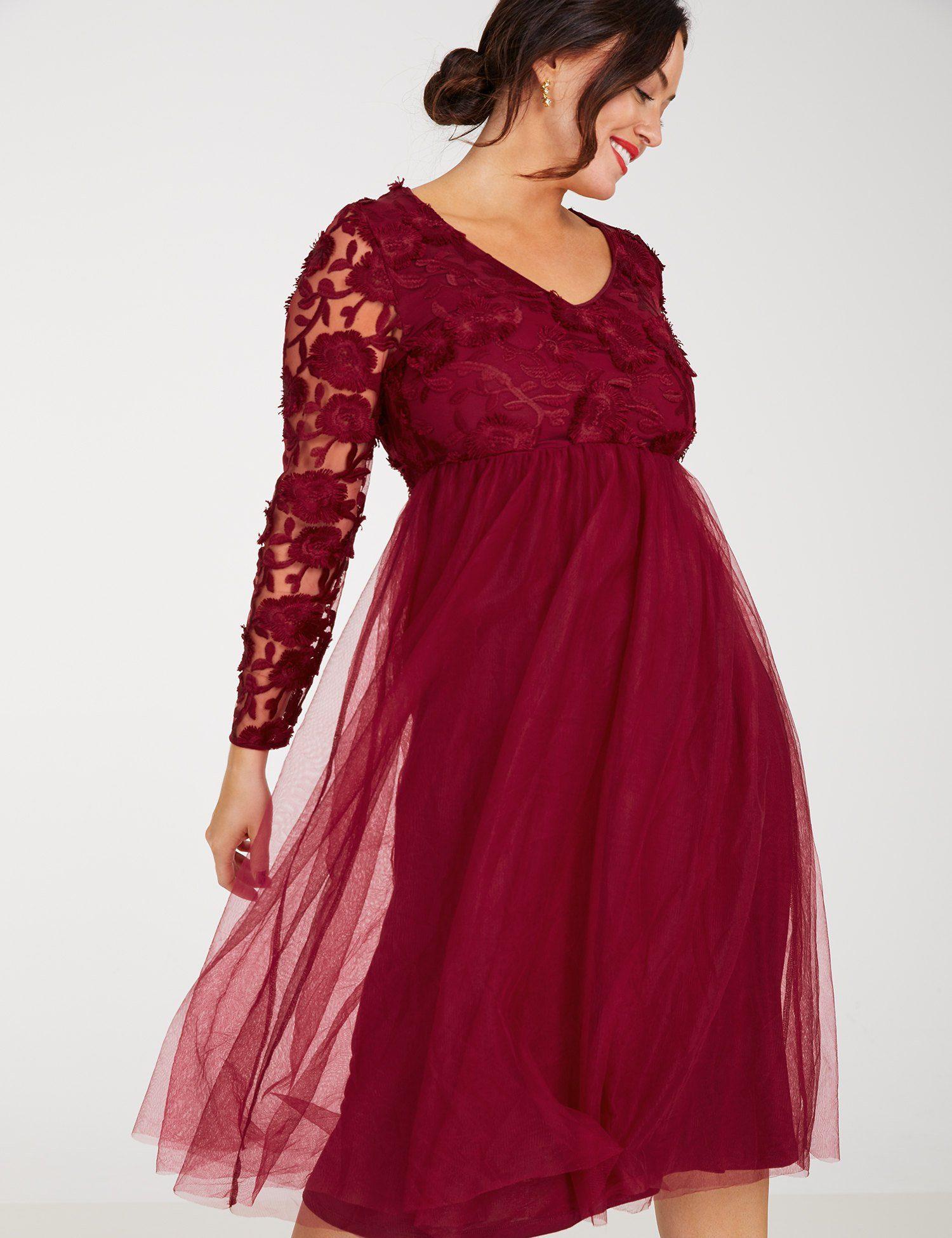 SAMOON Kleid Gewirke »Cocktailkleid mit Spitze«