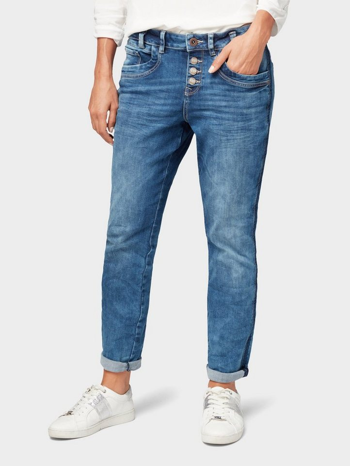 80ef0fa8824 Tom Tailor Regular-fit-Jeans »Relaxed Tapered Jeans«, Aus ...