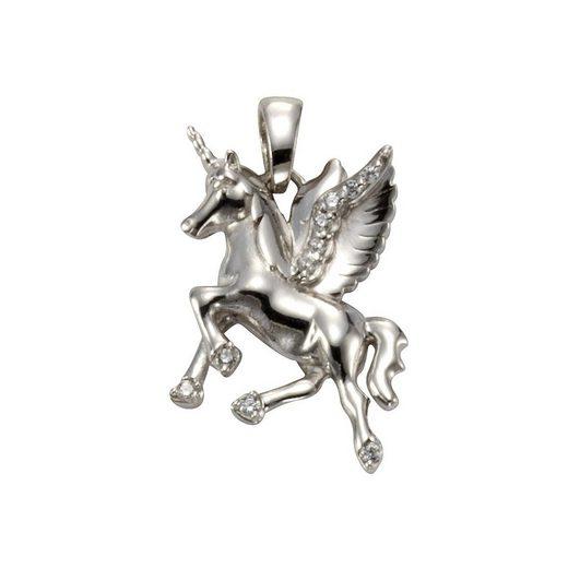 Vivance Anhänger »925/- Sterling Silber Einhorn Zirkonia«
