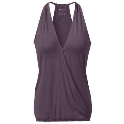 """Yogistar Yogashirt »V-Neck """"ala"""" - elderberry«"""