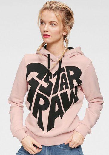 G-Star RAW Kapuzensweatshirt »Graphic 50 xzula hdd sw wmn l/s« mit Logo-Frontdruck