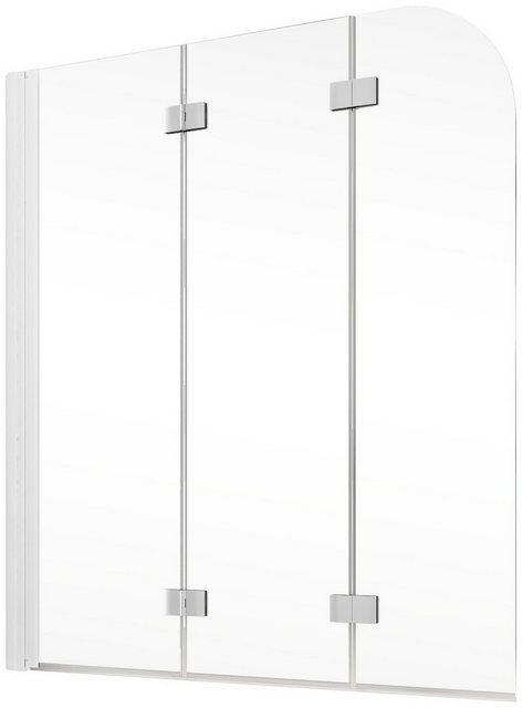 Badewannen und Whirlpools - Schulte Badewannenfaltwand »Komfort«, Einscheibensicherheitsglas, (3 tlg), Breite 125 cm  - Onlineshop OTTO