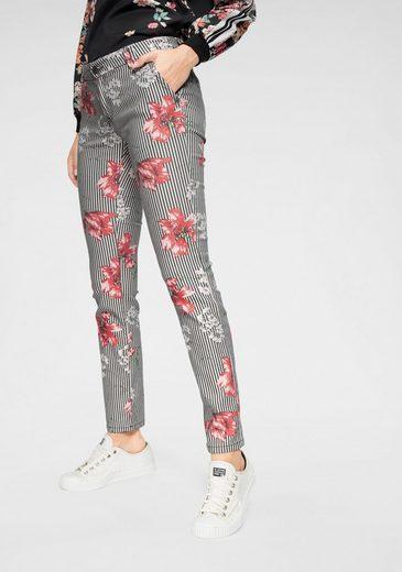 Blumendesign Coccara Und fit Im »emily« Slim jeans Streifen vPqxnz0P4