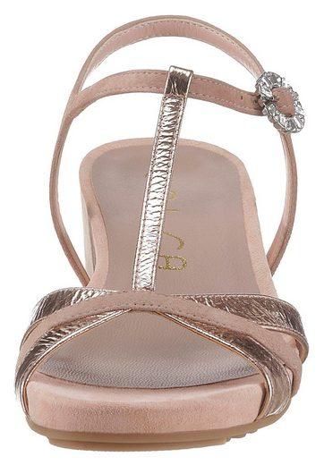Unisa riemchen Metallic Unisa Sandalette Mit Sandalette wqWr1XxPTw