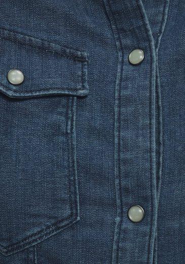 Brustpattentaschen »tacoma Wmn s« L Slim Shirt star Raw G Jeansbluse Mit qt6HZwvw
