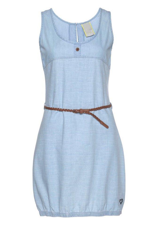 alife and kickin Jeanskleid »DOJA D« (2-tlg) modisches Jeanskleid in verspielter Streifenoptik | Bekleidung > Kleider > Jeanskleider | Blau | Denim | alife and kickin