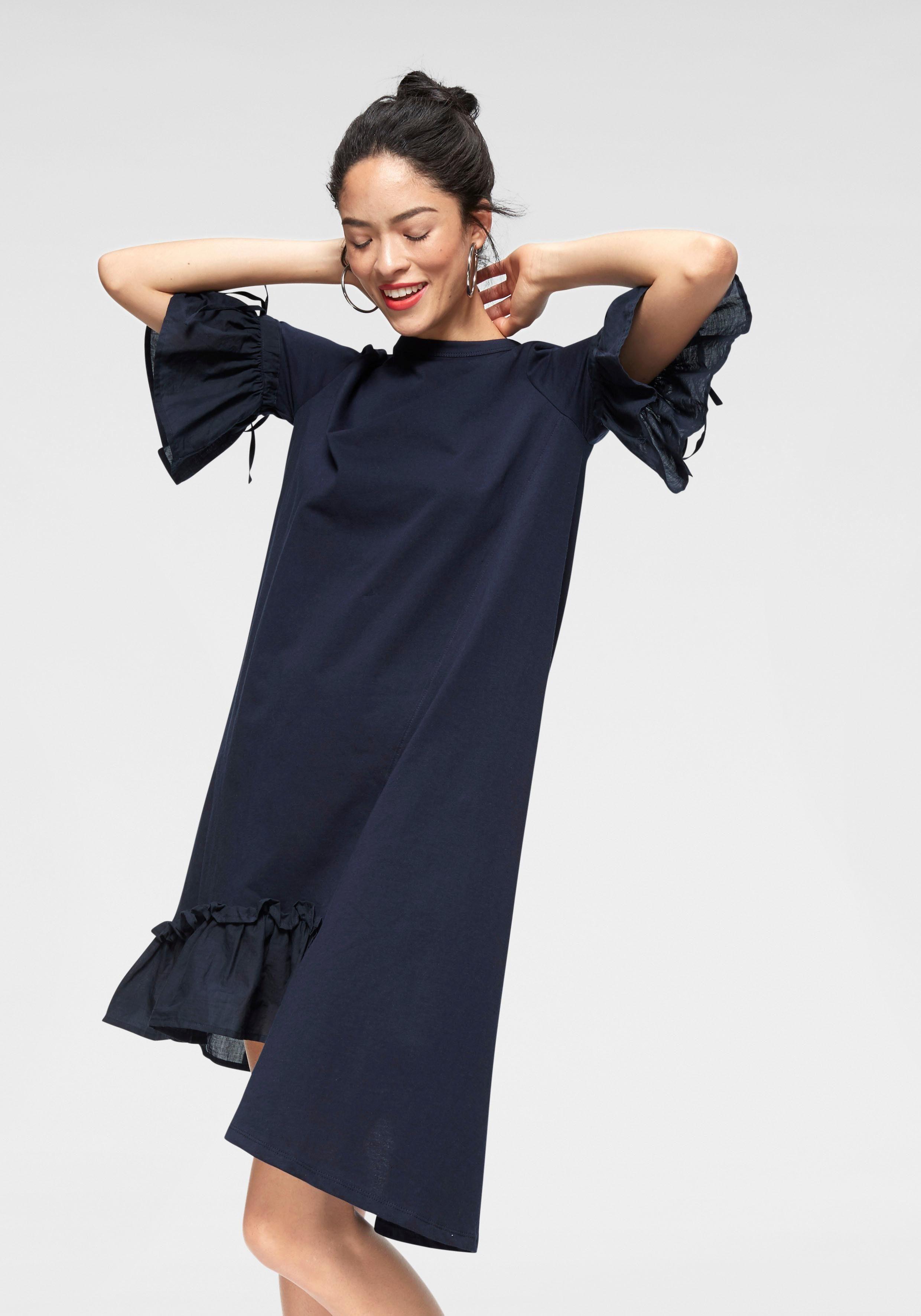 LTB Jerseykleid »RIRETO« mit asymmetrischem Volantsaum