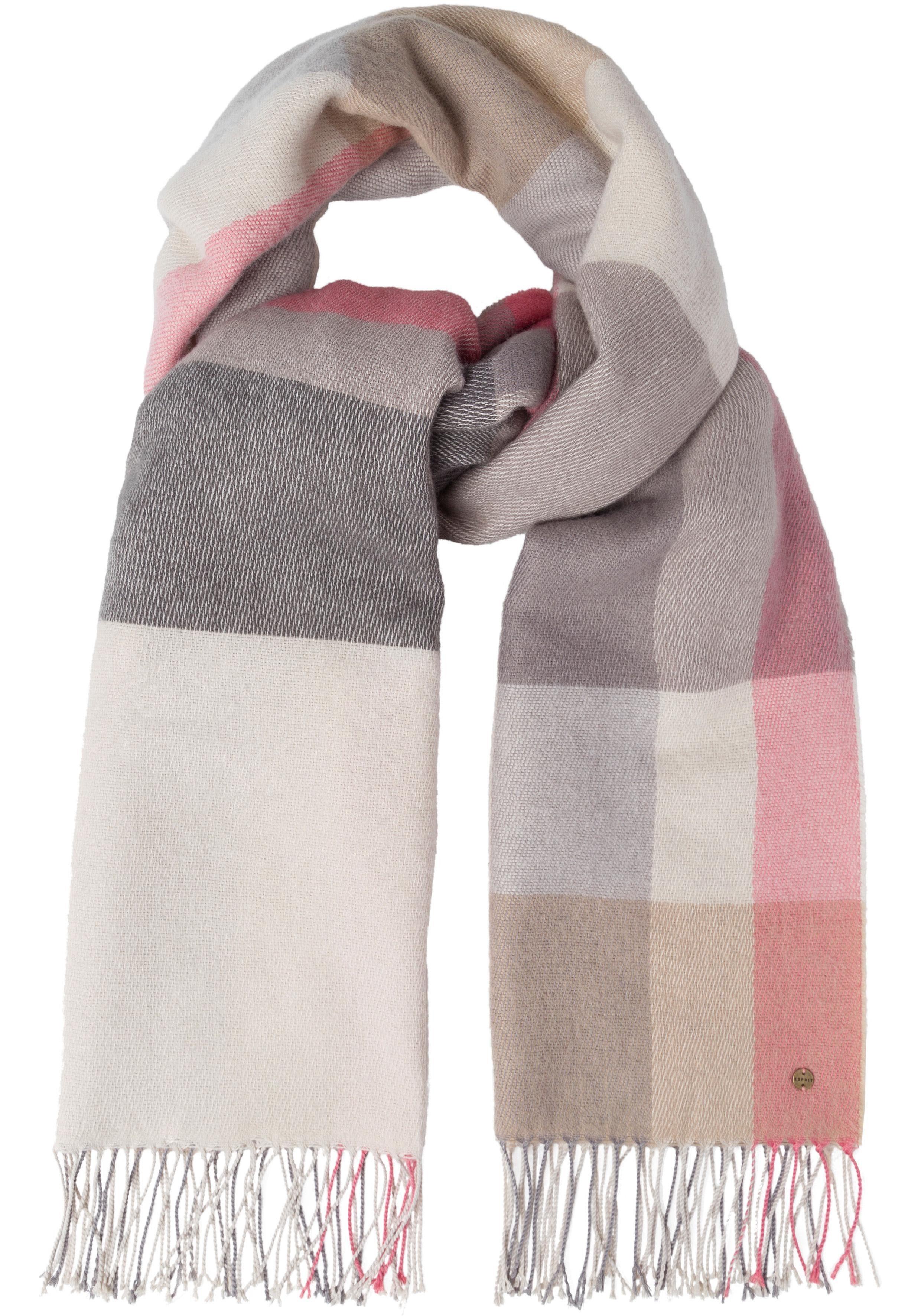 Esprit XXL-Schal im karierten Design
