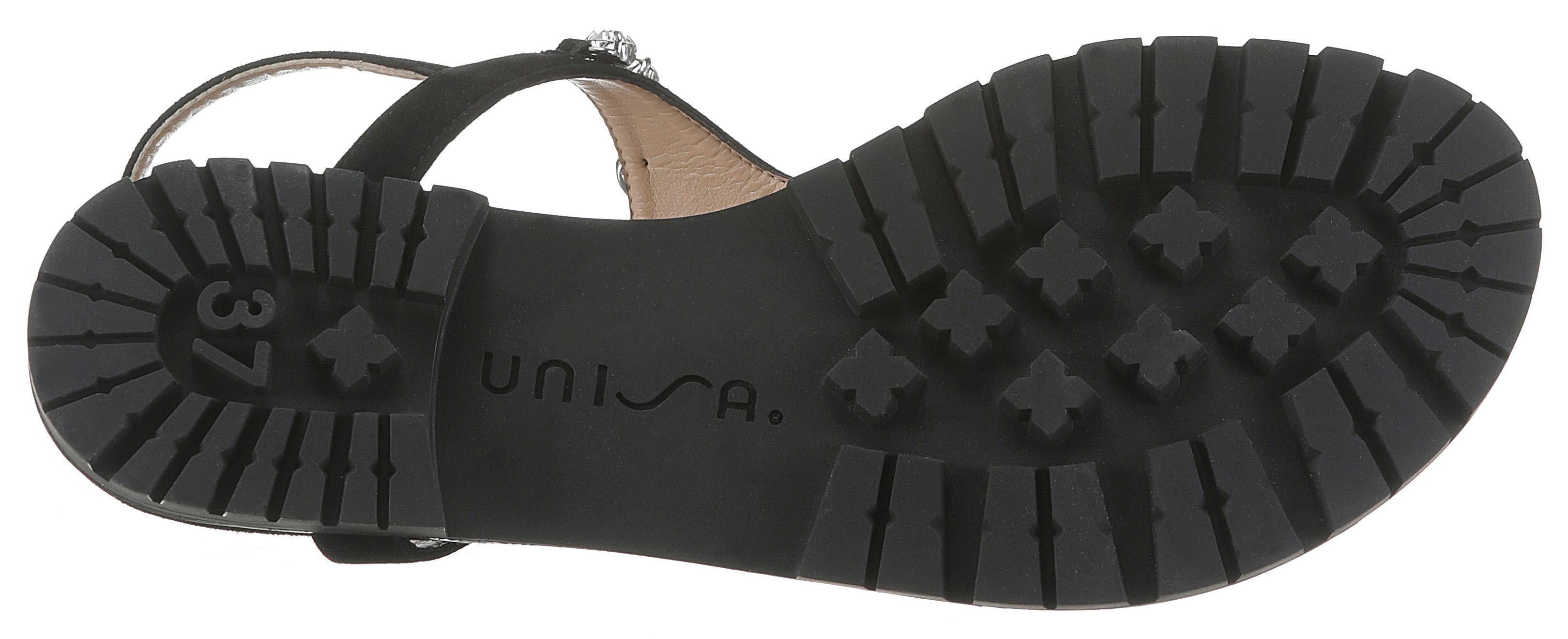 Sandale Eleganter Unisa Unisa Mit Sandale Steinchenverzierung Mit 0t64xqZ
