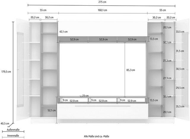 Wohnwände - Wohnwand »Sensis«, (4 tlg)  - Onlineshop OTTO