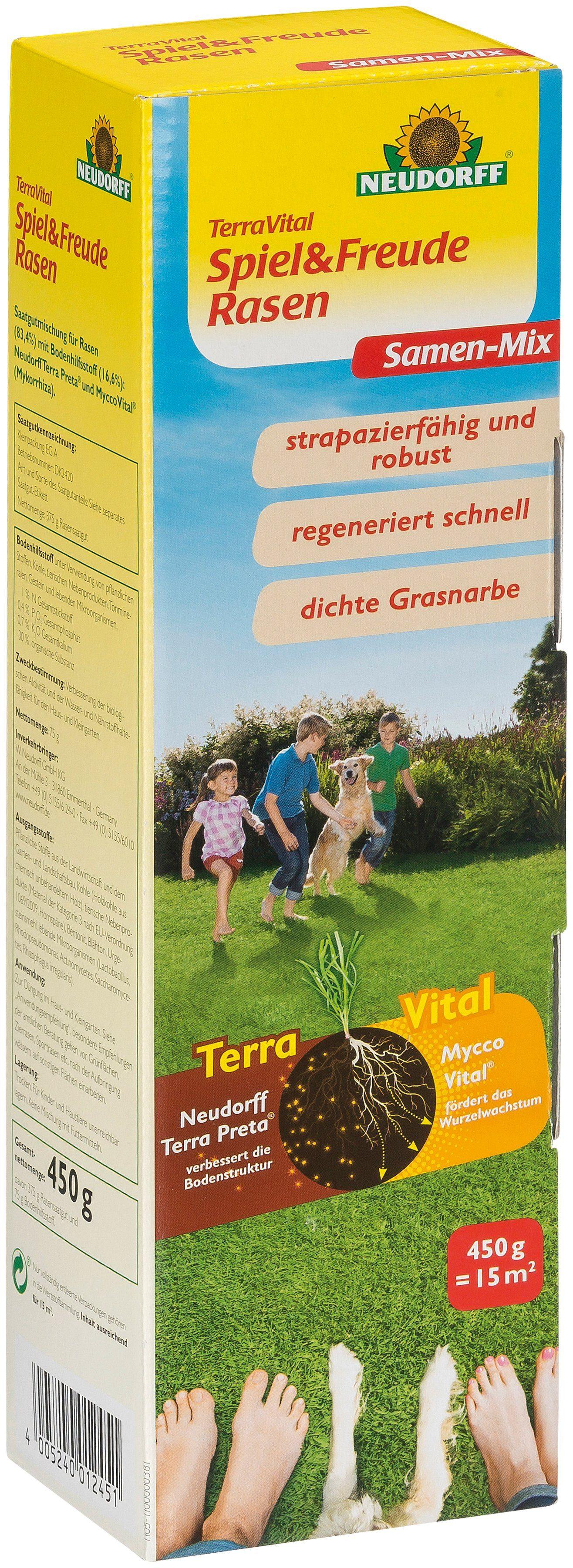 NEUDORFF Sport- und Spielrasen »TerraVital Spiel&Freude«, 450 g