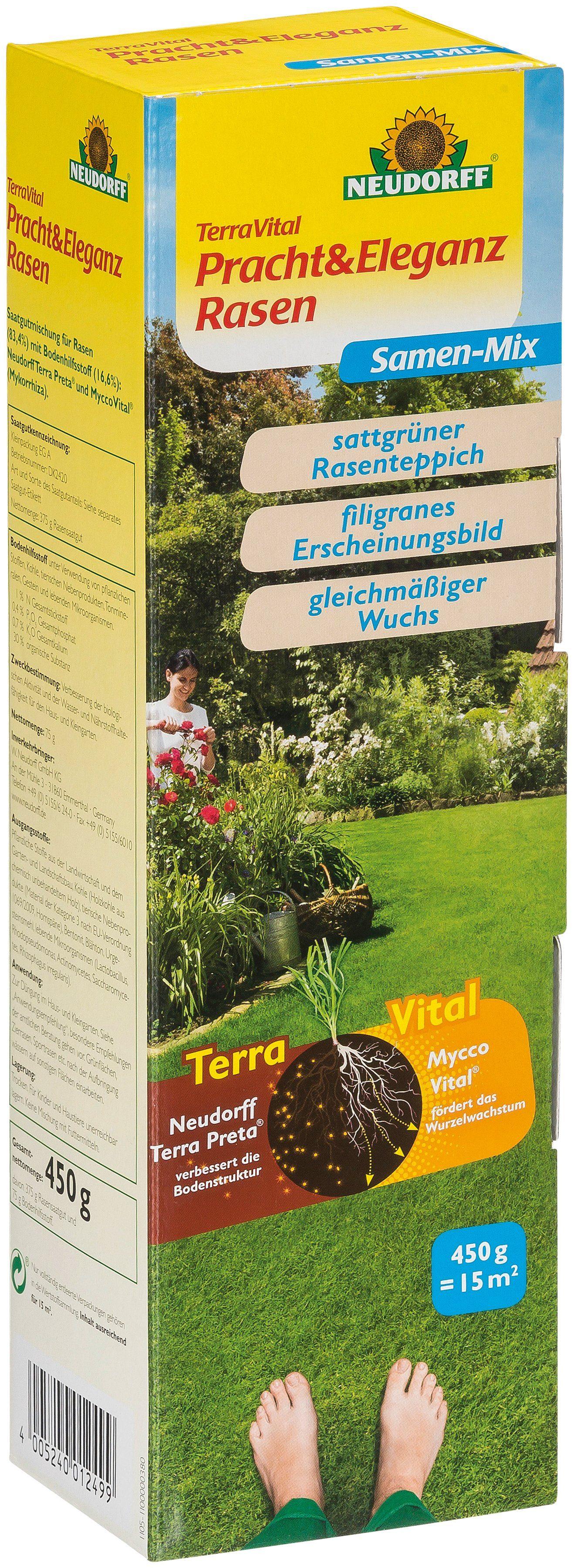 NEUDORFF Sport- und Spielrasen »TerraVital Pracht&Eleganz«, 450 g