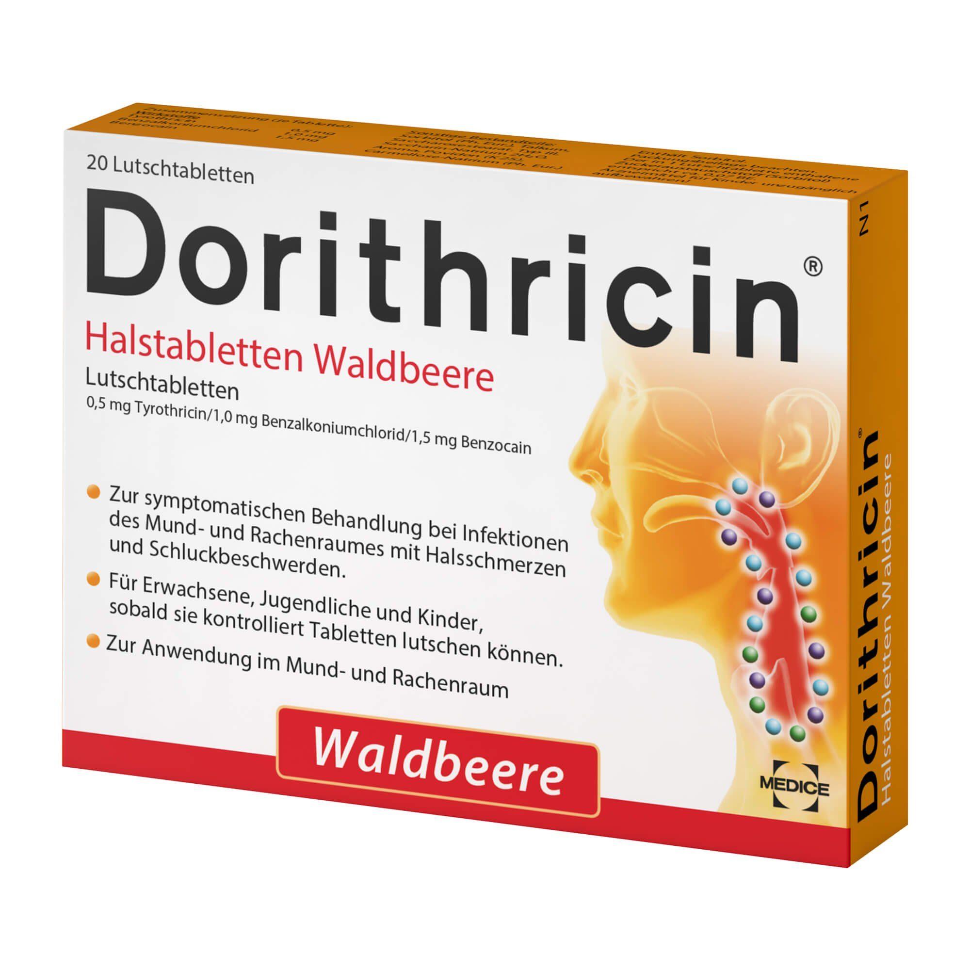 Dorithricin Halstabletten Waldbeere, 20 St