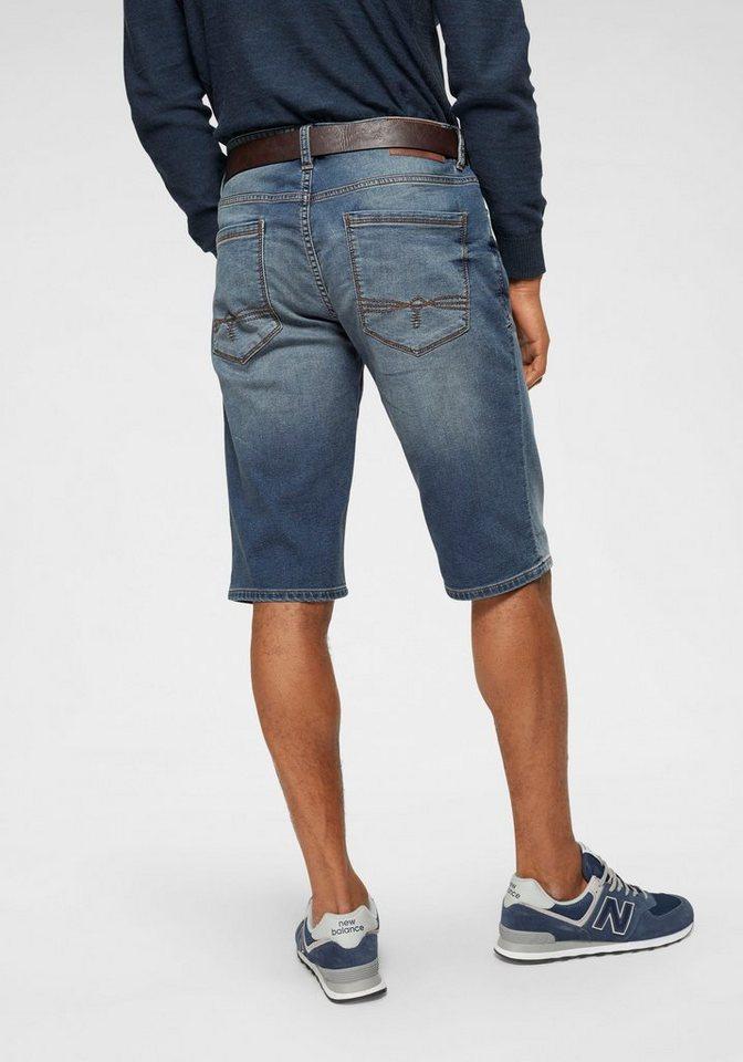 s.Oliver RED LABEL Jeansbermudas »TUBX« (Set, 2 tlg., mit Gürtel) | Bekleidung > Shorts & Bermudas > Jeans Bermudas | Blau | Denim | s.Oliver RED LABEL