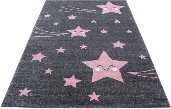 Kinderteppich »Kids 610«, Ayyildiz, rechteckig, Höhe 12 mm, Motiv Sterne, Kurzflor