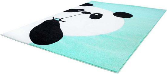 Kinderteppich »Bueno Kids 1389«, Carpet City, rechteckig, Höhe 13 mm, Panda Bär in pastell Farbtönen