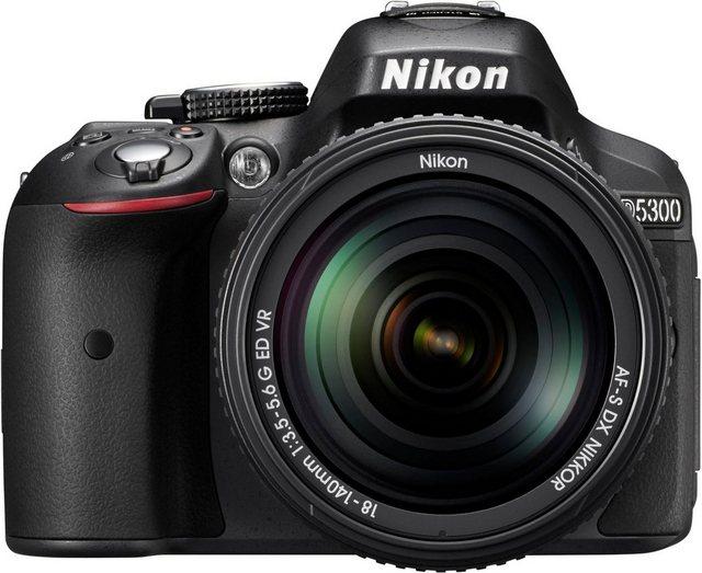 Spiegelreflexkameras - Nikon »D5300 Kit AF S DX 18 140mm« Spiegelreflexkamera (AF S DX 18 140mm, 24,2 MP, WLAN (Wi Fi), inkl. Tasche Fotogutschein)  - Onlineshop OTTO