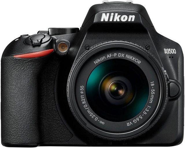 Spiegelreflexkameras - Nikon »D3500 AF P DX 18–55 VR« Spiegelreflexkamera (AF P DX NIKKOR 18–55 mm 1 3,5–5,6 G VR, 24,2 MP, Bluetooth)  - Onlineshop OTTO