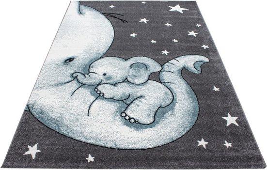 Kinderteppich »Kids 560«, Ayyildiz, rechteckig, Höhe 12 mm, Elefanten Kinder Design, Kurzflor