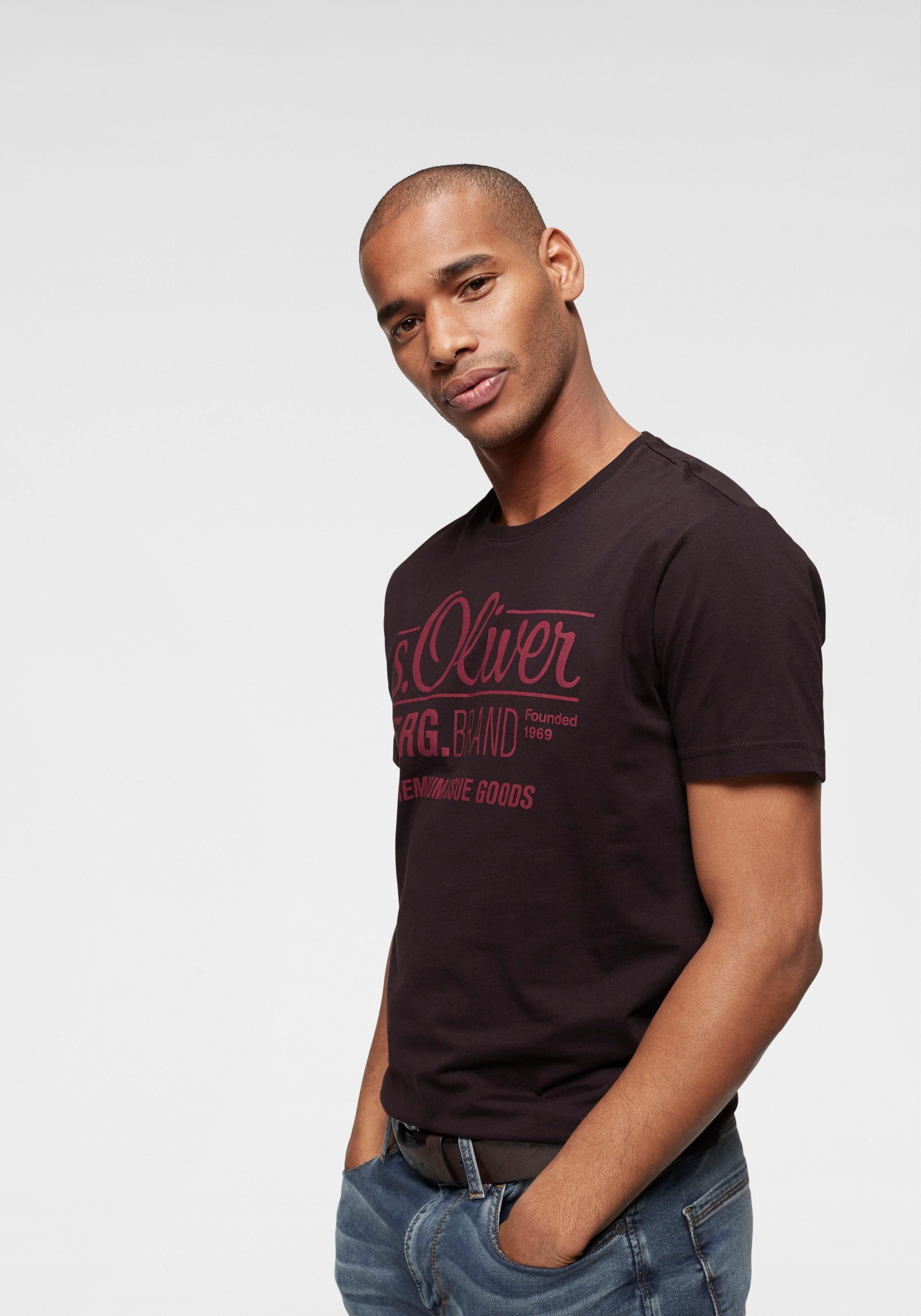 s.Oliver RED LABEL T-Shirt mit großem Logo-Print