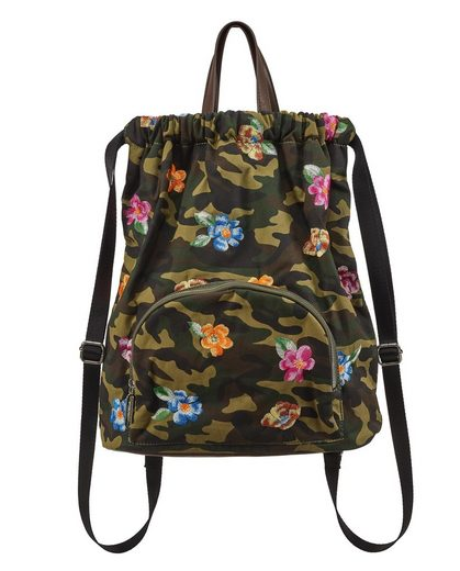 STUFF MAKER Cityrucksack »Flower Rainbow Flower«, mit gesticktem Blüten Print